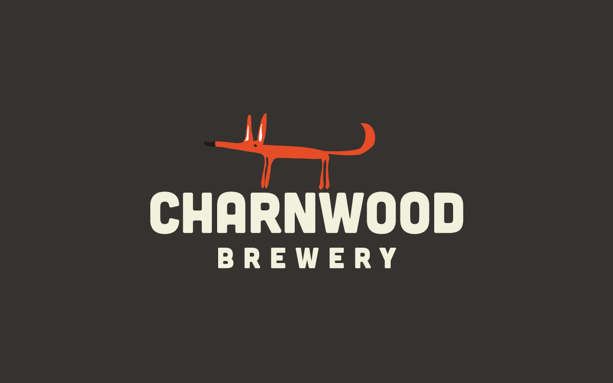 Charnwood Brewery logo featuring Clarence the fox