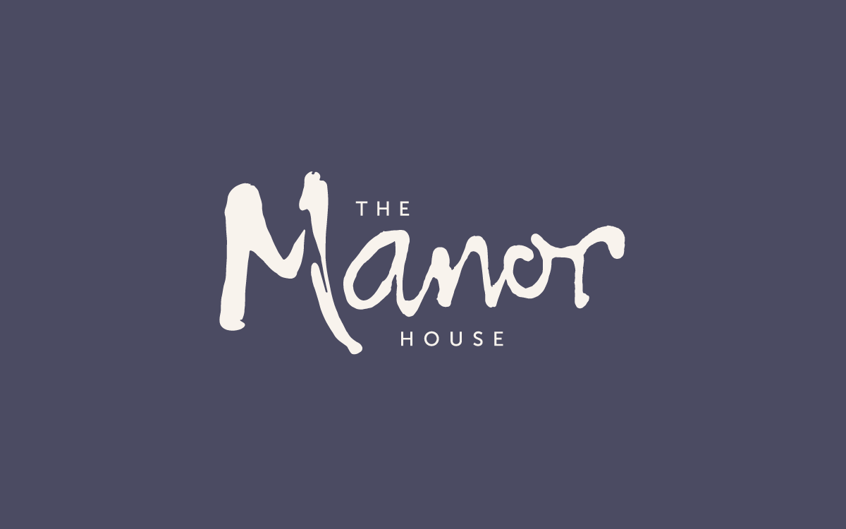 Brand identity for The Manor House pub restaurant and bed and breakfast in Quorn.