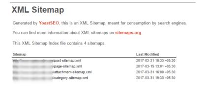 XML Sitemap updates