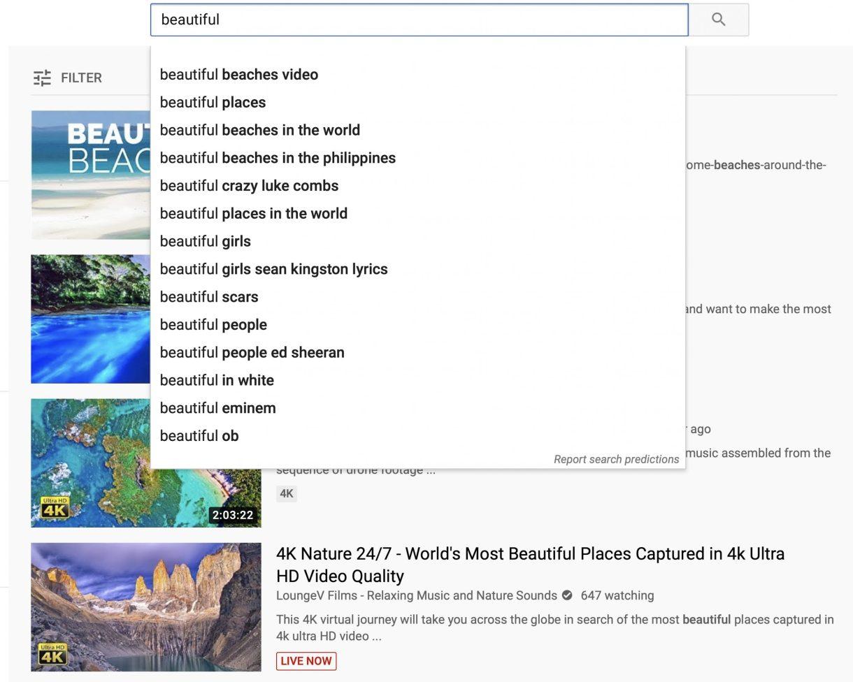 YouTube Search : Beautiful Beaches