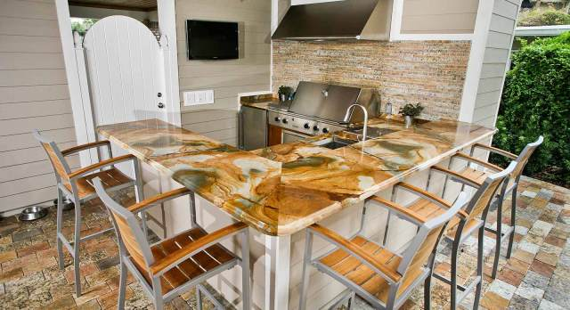 outdoor kitchen countertops orlando | adp surfaces
