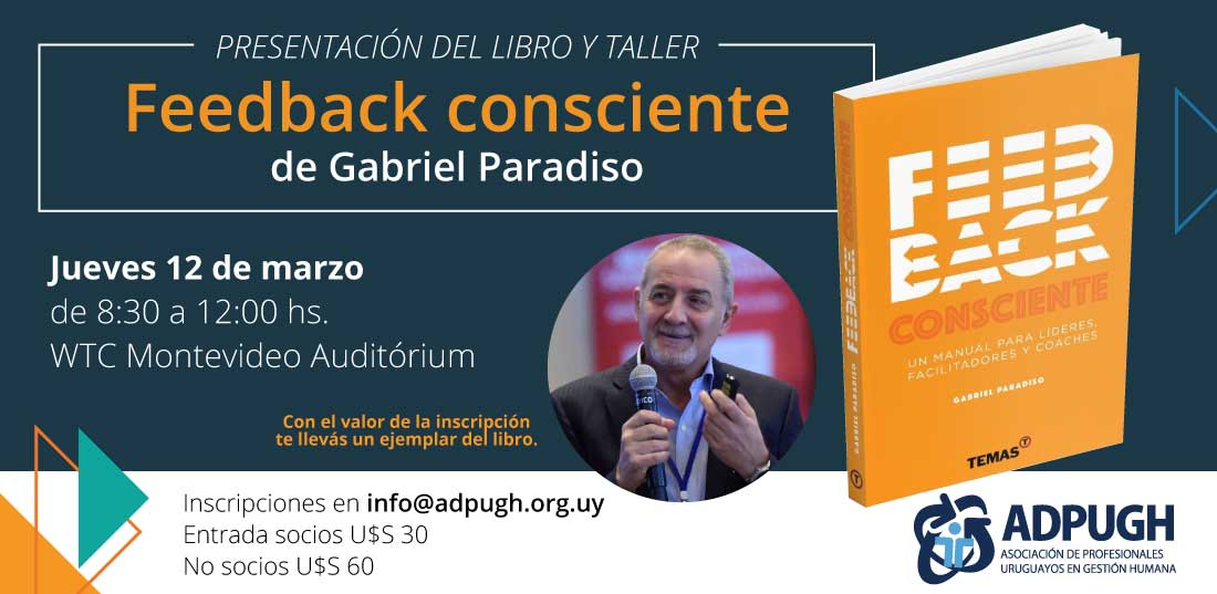 Presentación y taller Feedback consciente junto a Gabriel Paradiso