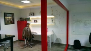 6. Glass wall partition