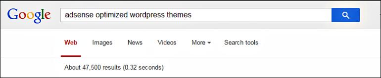 AdSense optimized WordPress theme Search