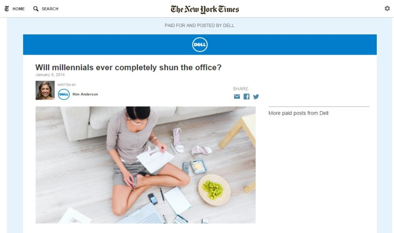 NYTimes native ad