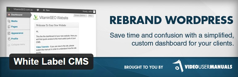 The White Label CMS plugin is for those who want a more personalized and less confusing content management system. The system works especially well for ...