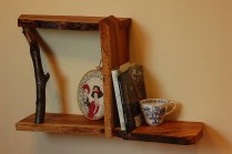 Live Edge Cherry Shelf with Cherry Branch (Series 13, No. 19)