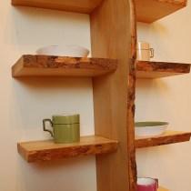 Quadruple Live Edge Shelf No. 7