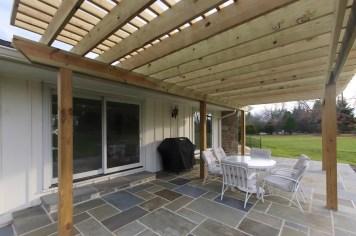 baltimore timonium design build exterior patio pergola renovation