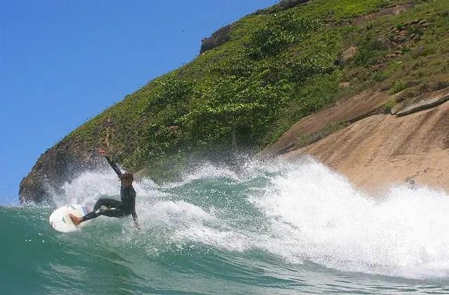 Surf no Pontal, canto do Recreio