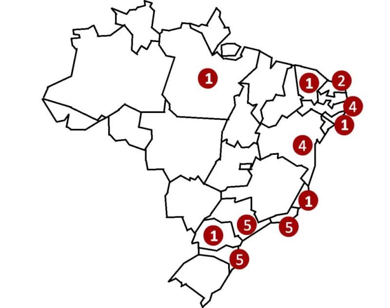 Mapa com os Melhores Picos de Surf do Brasil