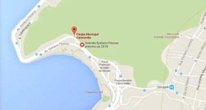 mapa do parque da catacumba - trilha do mirante do sacopa e morro do urubu