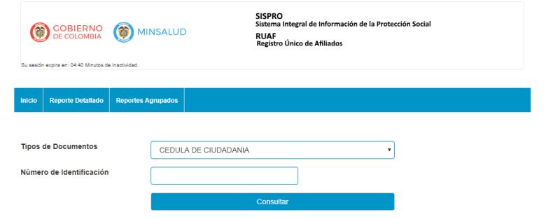 SISPRO RUAF Consulta en línea
