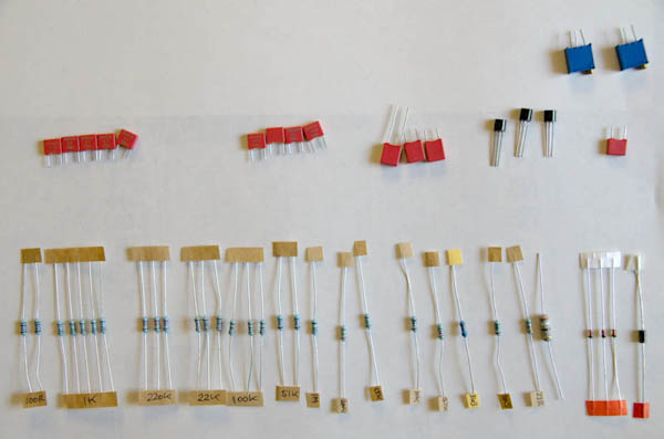 Surf PI 1.2 Resistors and other components