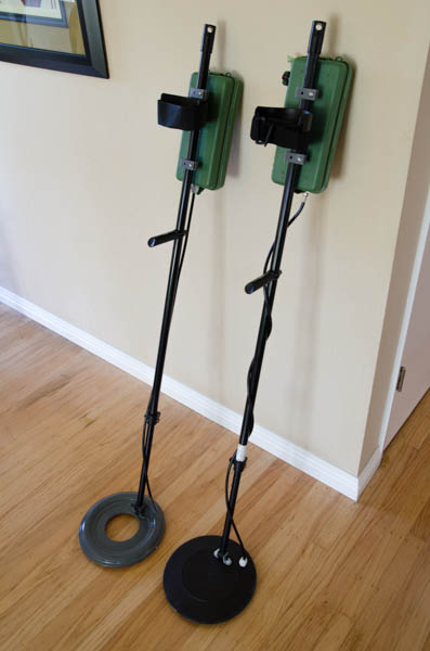 Finished Metal Detector with coil and shaft