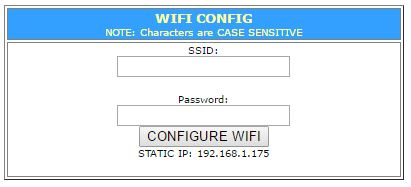 Wifi configuration section