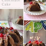 Try this birthday chocolate cake recipe. It is my family's best-kept secret. You will love it because it uses pantry staples that everyone has handy at home. I know there are many tasty chocolate cake recipes. However, this recipe is perfect as it uses pantry staples such as pancake mix, chocolate powder, canned evaporated milk, butter, eggs, vanilla, baking powder, cooking oil, and confectioners sugar. Plus colorful sprinkles and cherries to decorate.