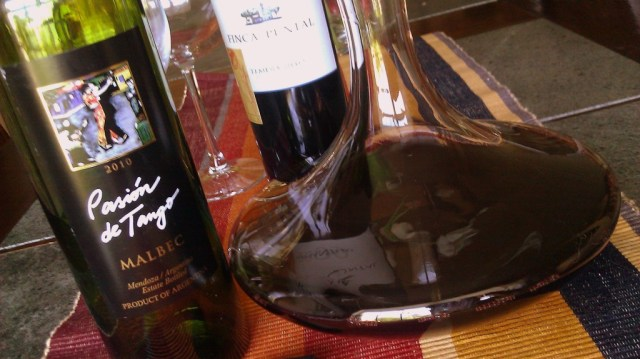 Using a decanter to aerate the red wine to improve overall taste before enjoying wine