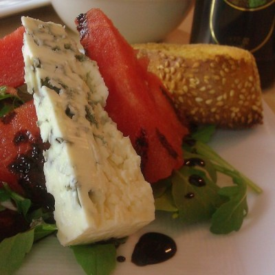 Watermelon Salad and Balsamic Reduction