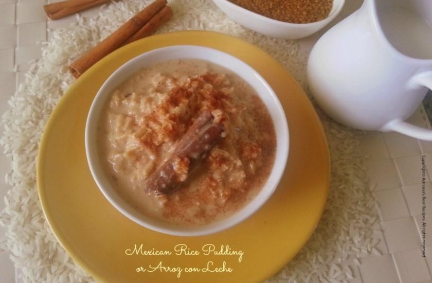 Mexican Rice Pudding or Arroz con Leche #ABRecipes #LentRecipes