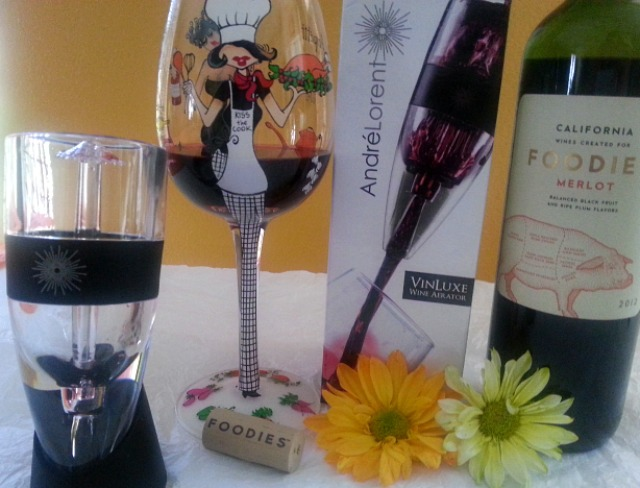 Enjoying Wine with my #VinLuxe Aerator #ad