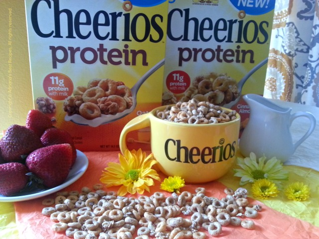 General Mills has given me the chance to debut here in Adriana's Best Recipes the NEW Cheerios Protein