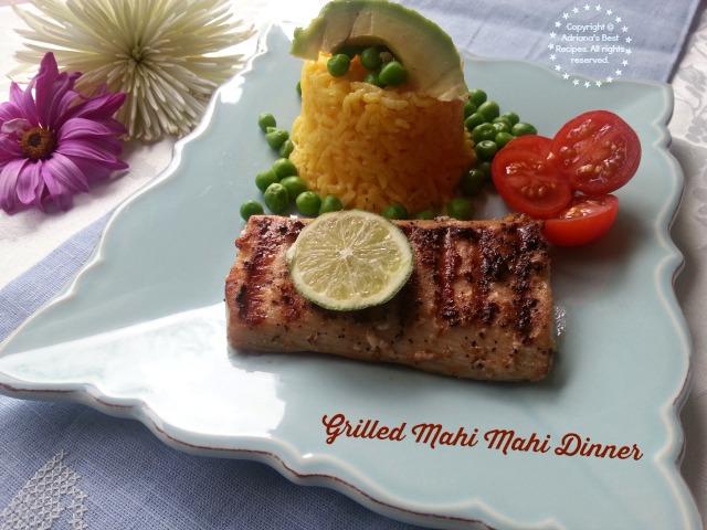 Grilled Mahi Mahi Dinner #ABRecipes