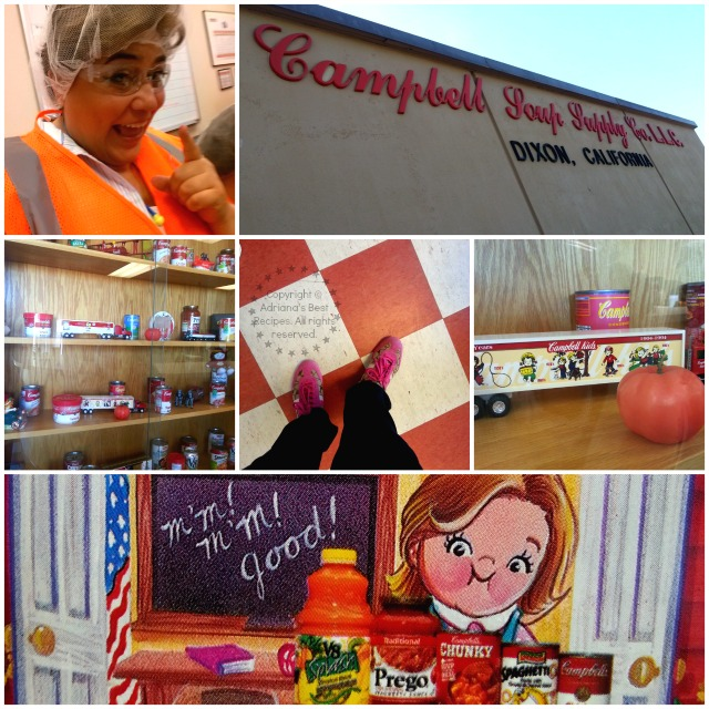 Adriana Martin visiting the Campbell's Soup plant in Dixon California #TASTE14