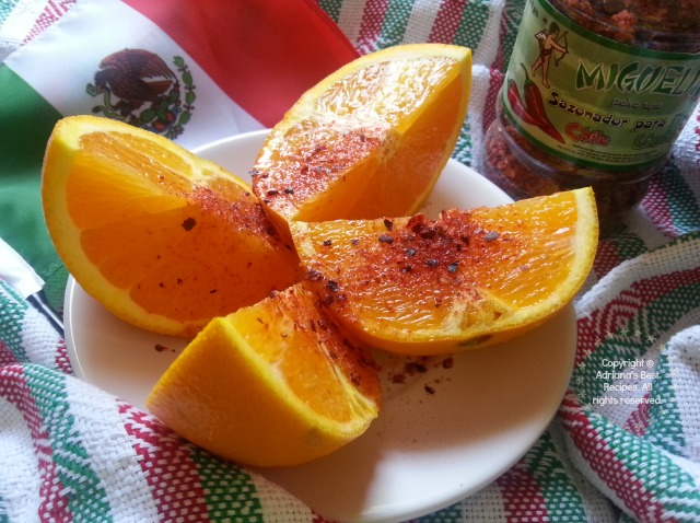 And when there is no jicamas available try orange slices with chamoy