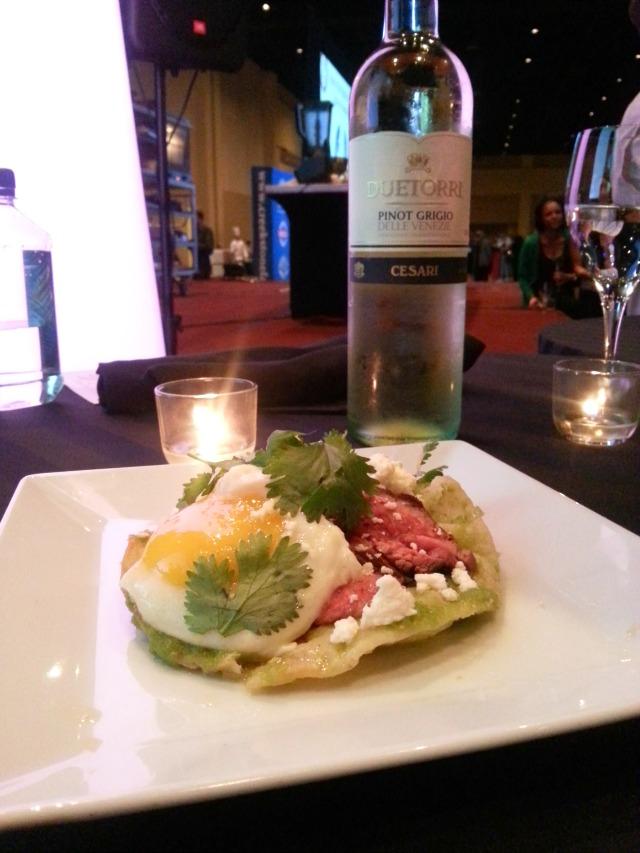 Chef Showdown winner dish during Taste of the Nation #OrlTaste