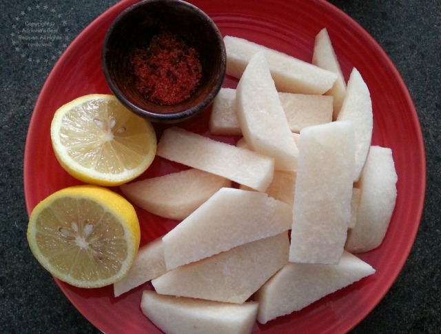 I always cherished those jicamas with chamoy after school #ABRecipes