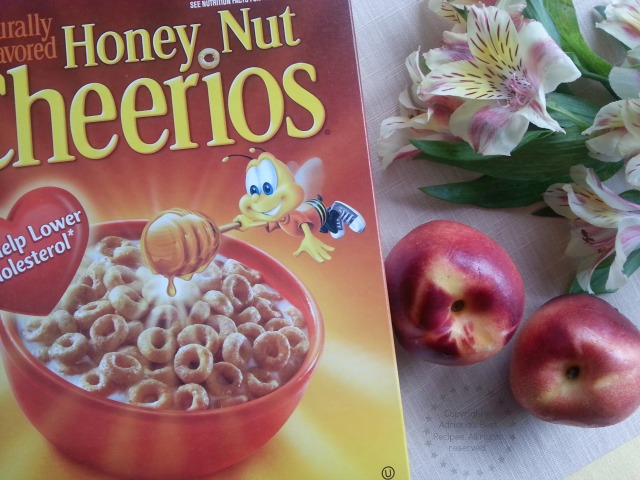 Ingredients for the Cheerios Peach Orange Smoothie