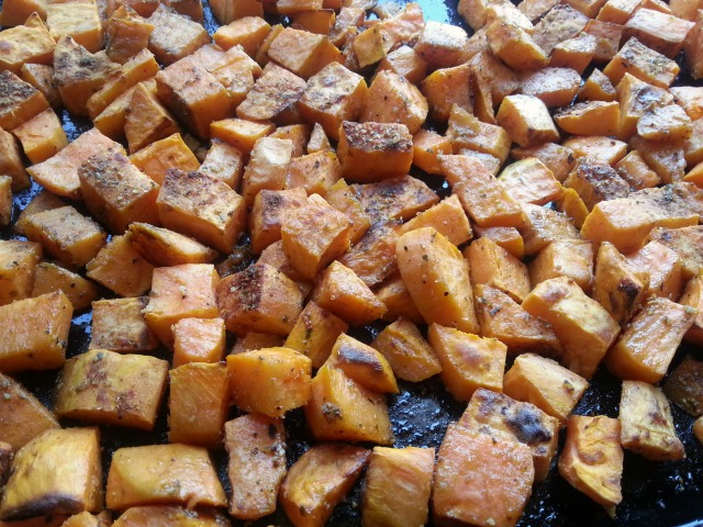 Roasted Sweetpotatoes for the Spicy Sweetpotatoes Casserole #ABRecipes