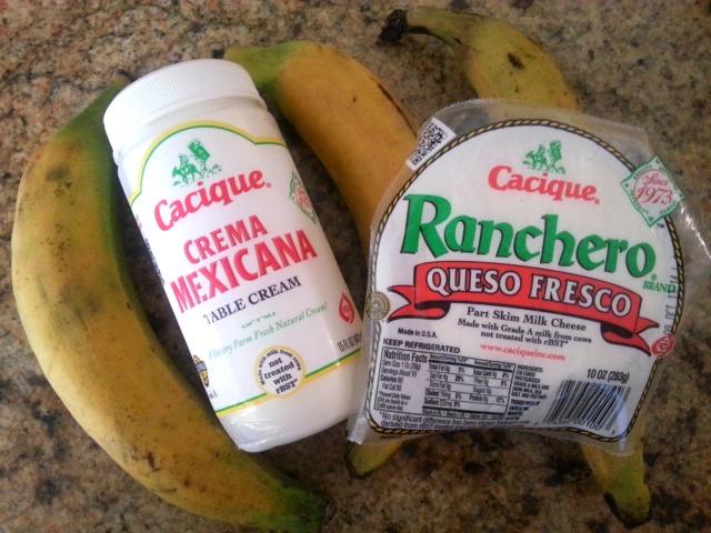 Ingredients for the plantain tortitas #GoAutentico #CaciqueRecipes #DiaDeLosMuertos #DayoftheDead #ad