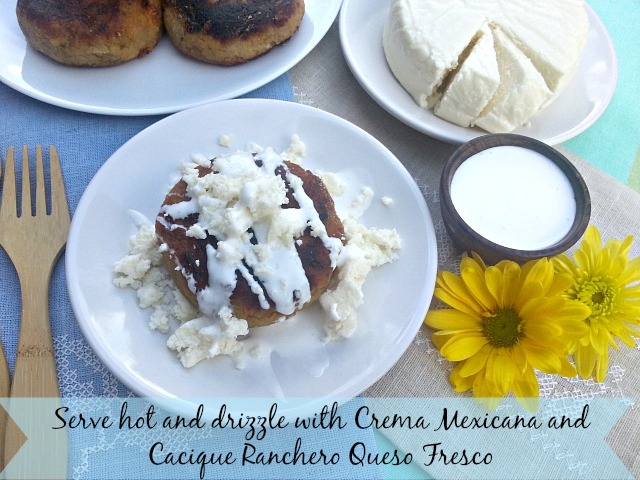 Serve hot and drizzle with crema and queso #GoAutentico #CaciqueRecipes #DiaDeLosMuertos #DayoftheDead #ad