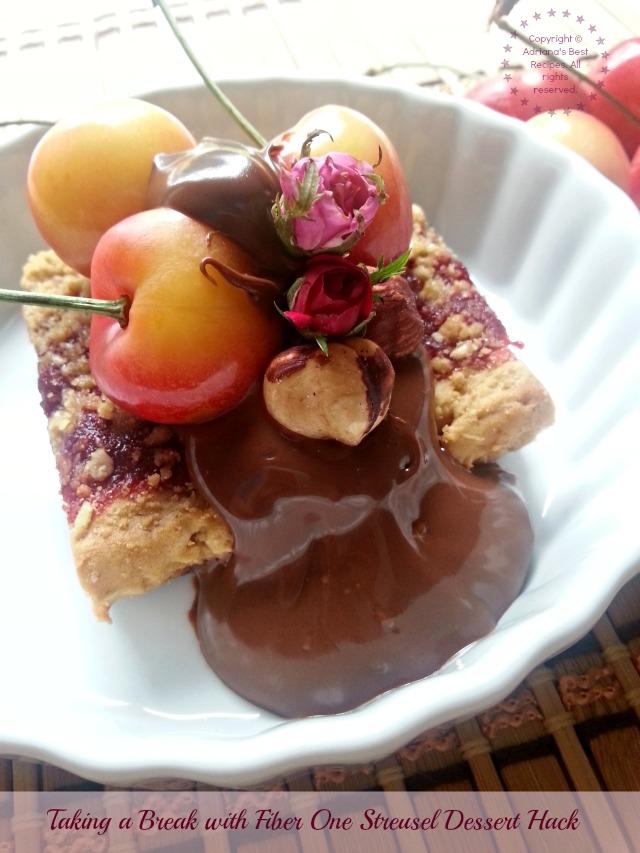 Taking a break with Fiber One Streusel Dessert Hack
