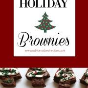 Receta para brownies navideños muy fácil y preparada con productos disponibles en el supermercado. Perfecta idea para las fiestas decembrinas