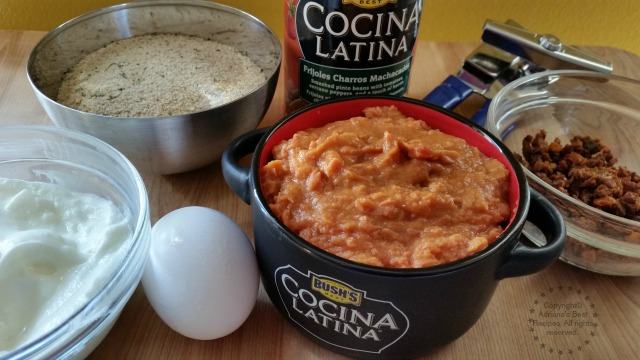 Ingredients for making the Charro Bean Cakes #ElFrijolazo #ad