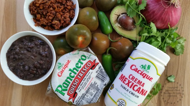 Ingredients for the Movie Nachos Recipe #GoAutentico #ad