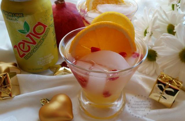 Zevia Pomegranate Screwdriver #CheersTo #ad