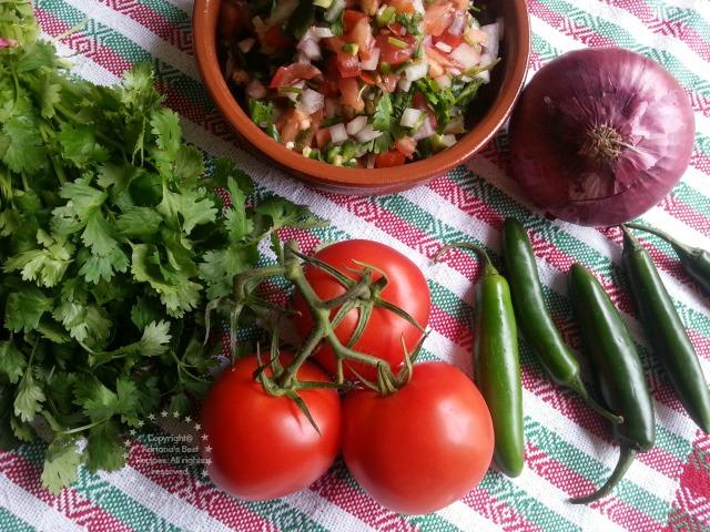 Ingredients for preparing fresh Mexican Salsa or Pico de Gallo #ABRecipes