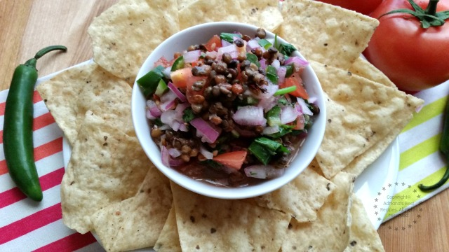 Lentils Salsa great appetizer for entertaining at home #ABRecipes