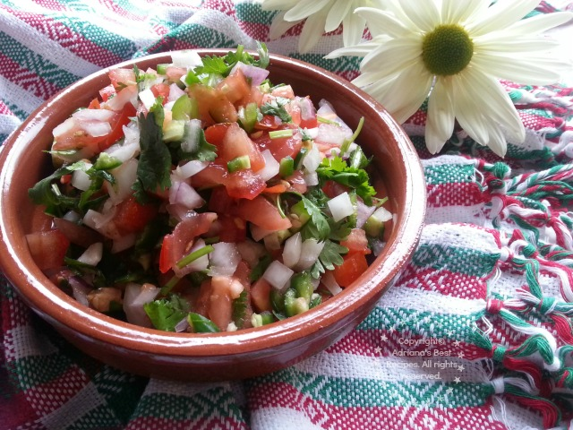 Mexican Salsa or Pico de Gallo Recipe #ABRecipes