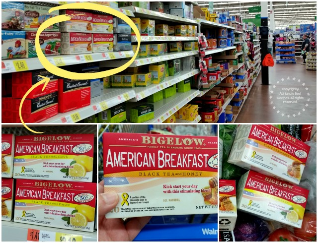 Purchasing Bigelow American Breakfast Tea at Walmart #AmericasTea #ad