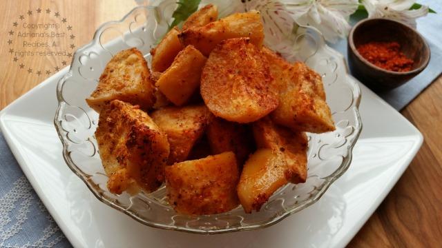 Sriracha Buttered Potato Bites Tasty Vegetarian Dish #ABRecipes