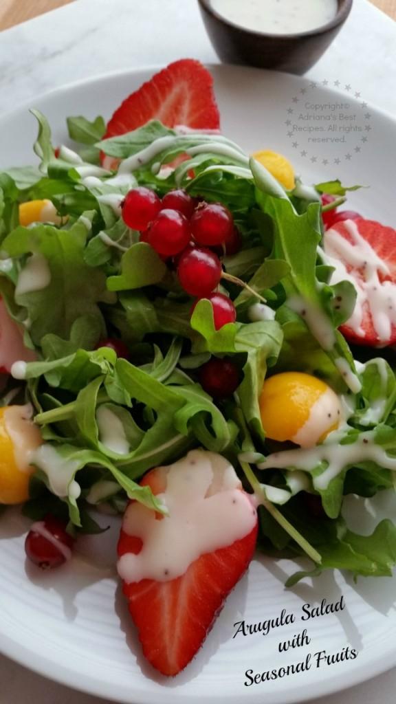 Arugula Salad with Seasonal Fruits Recipe #FoodieBeMine #ABRecipes