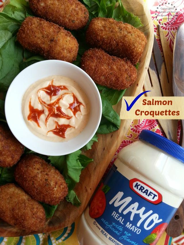 This easy salmon croquettes recipe is fun to make #ComidaKraft #ad