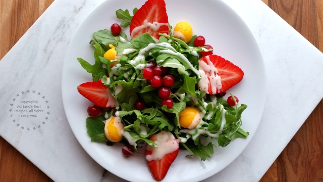 Valentines Day is this week why not making a lovely arugula salad with seasonal fruits #ABRecipes