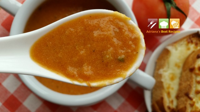 Heirloom Tomato Bisque rich in flavor and smooth #ABRecipes