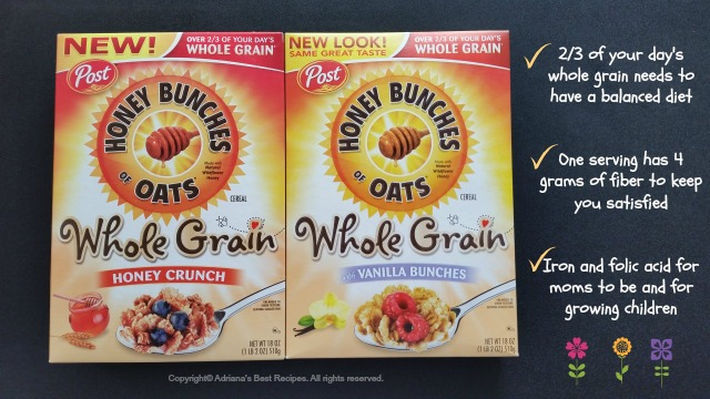 Honey Bunches of Oats with Whole Grains part of a balanced nutrition to start your day #HBOats #ad